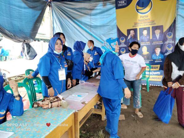 NasDem Kota Lubuklinggau Gelar Pasar Murah, 1.500 Paket Sembako Ludes