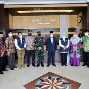 Merawat Kebhinekaan Sekaligus Launching Buku, Forkopimda Jatim Silaturahmi ke PW Muhammadiyah