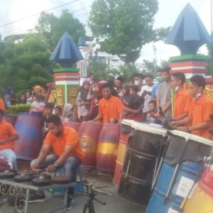 Lestarikan Budaya,2 Group Musik Daol Dug Dug di Sampang Sajikan Musik Tradisioanal Sambil Galang Dana