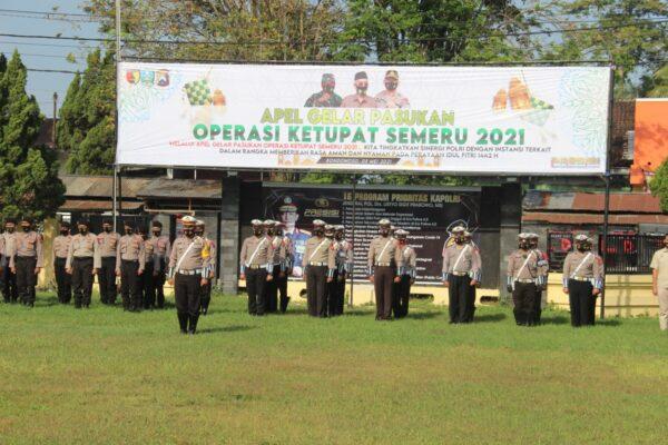 Operasi Ketupat Semeru 2021, Polres Bondowoso Terjunkan Ratusan Personil