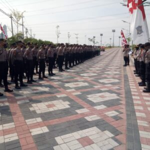 Sebanyak 458 Personel Gabungan TNI-Polri Amankan Kunjungan Presiden RI ke Benowo Surabaya