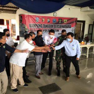 Kampung Tangguh Bebas Narkoba di Sidoarjo Diresmikan Ditresnarkoba Polda Jatim