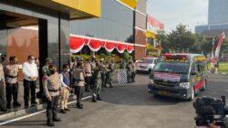 Puluhan Ambulance Vaksinasi Presisi Door To Door dilepas Forkopimda di Polda Jatim