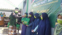 Selain Edukasi Vaksinasi PW dan PC GPK Bondowoso Berbagi Ratusan Paket Sembako