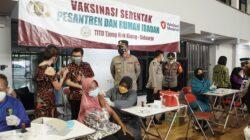 Polresta Sidoarjo Masifkan Vaksinasi Serentak di Pesantren dan Rumah Ibadah