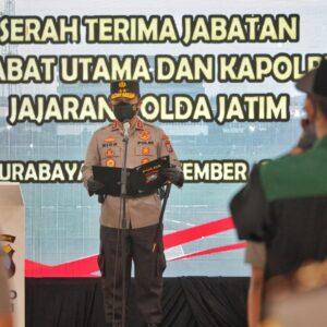 Belasan Pejabat Baru Jajaran Polda Jatim Dilantik Kapolda