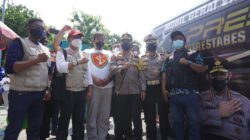 Polrestabes Sapu Bersih Vaksinasi Merdeka di Surabaya