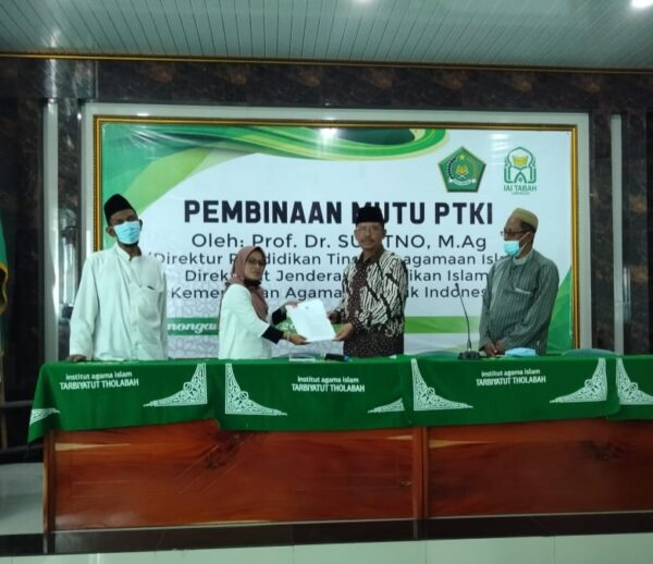 Diktis Serahkan SK Pembukaan Prodi Baru IAI Tarbiyatut Tholabah Lamongan Jawa Timur